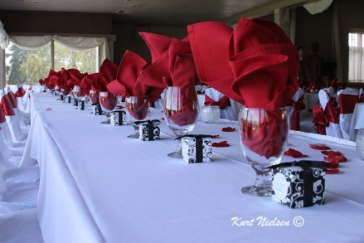 Long Head Table for Reception