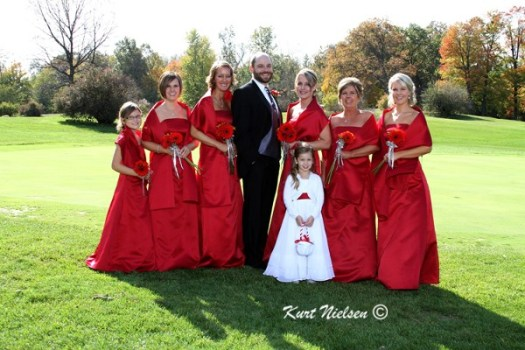 Photos of Groom with Bridesmaids