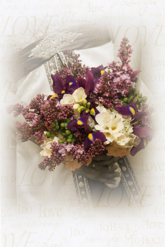Lilacs in Wedding Bouquet