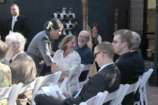 Photos of Guests Mingling at Wedding