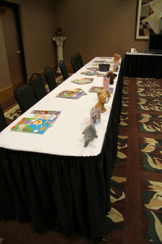 Kids Activity Table at Wedding Reception