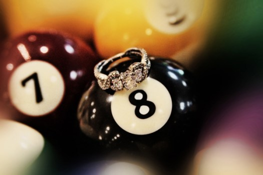 Engagement Ring and 8 ball
