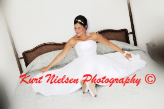 bride on the bed