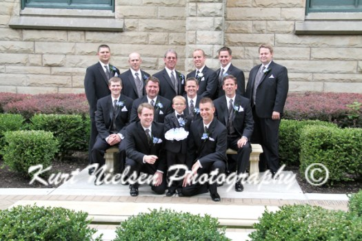 formal portraits of groomsmen