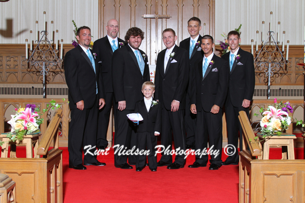 male wedding party photo