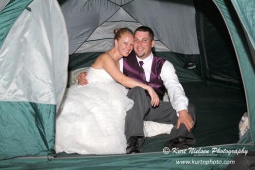 camping out at a wedding