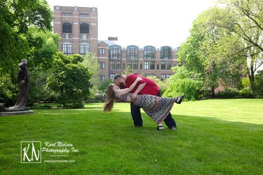 University of Michigan Engagement Photography