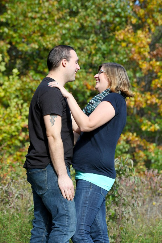engagement photos while laughing