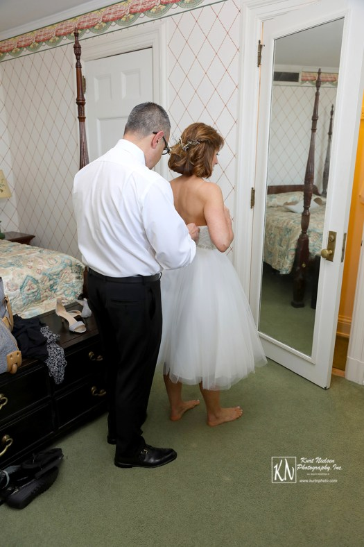 helping your bride to get ready