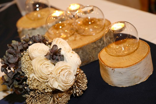 log wedding centerpieces