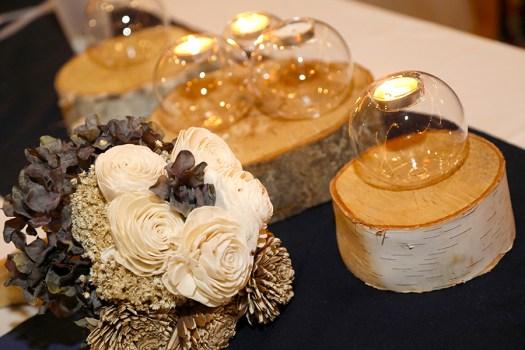log wedding centerpieces
