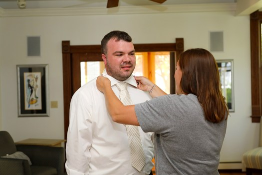 help for the groom as he gets ready
