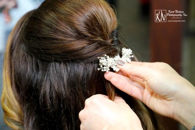 decorative hair piece for wedding veil