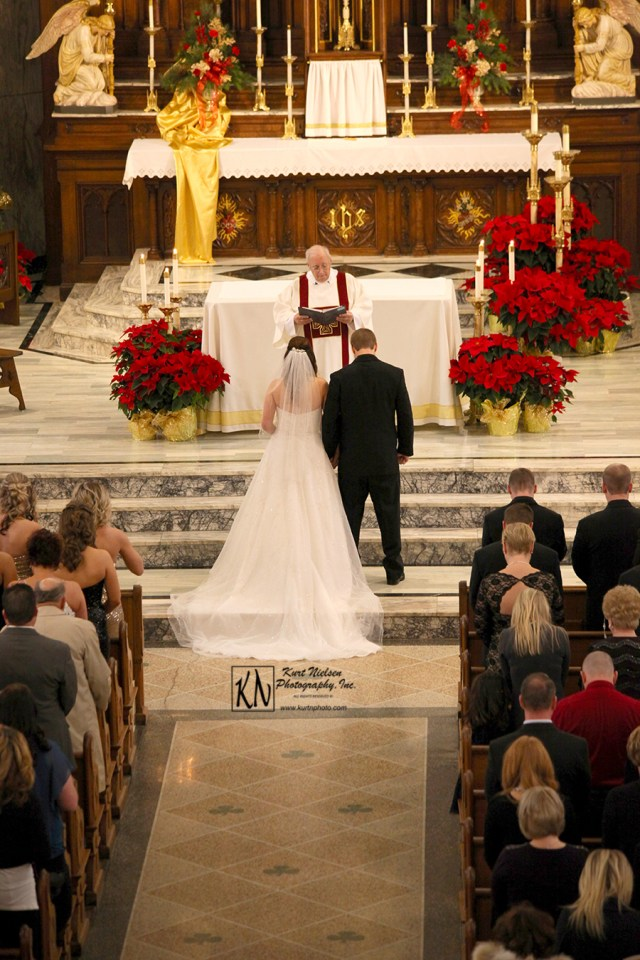 christmas wedding in a cathedral