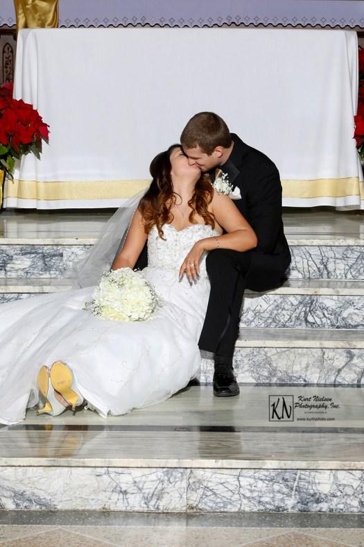 after wedding kiss