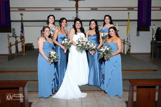 formal wedding party photos