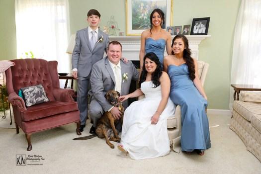 wedding family portrait
