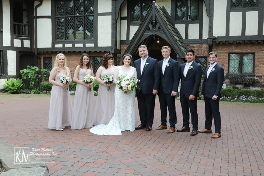 bridal party photos at The Club at Hillbrook