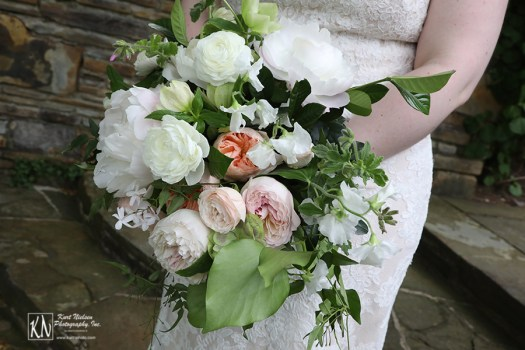 romantic bridal bouquet by Molly Taylor and Co