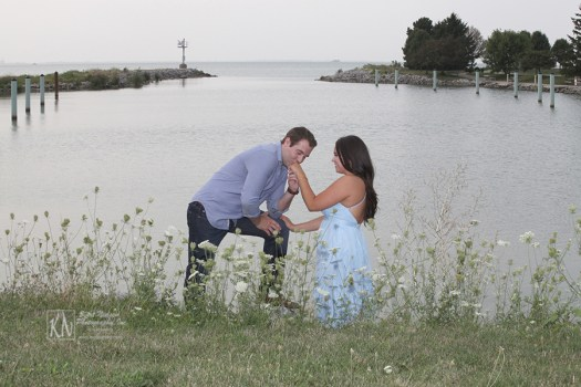 proposal photography at Maumee Bay State Park
