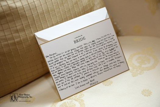 letter to the groom from the bride