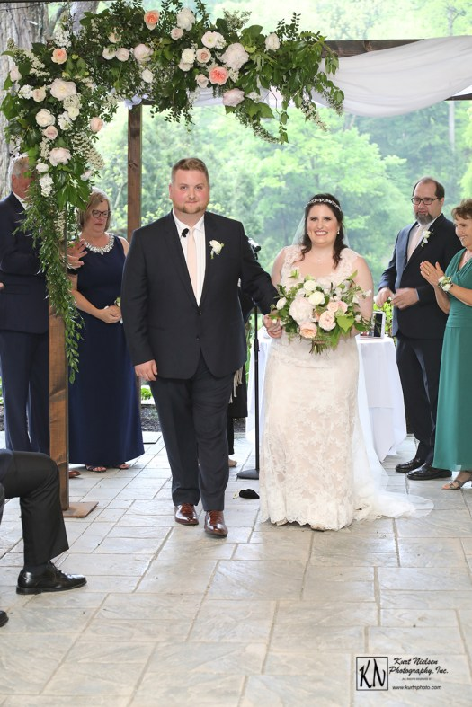 the recessional after the wedding ceremony