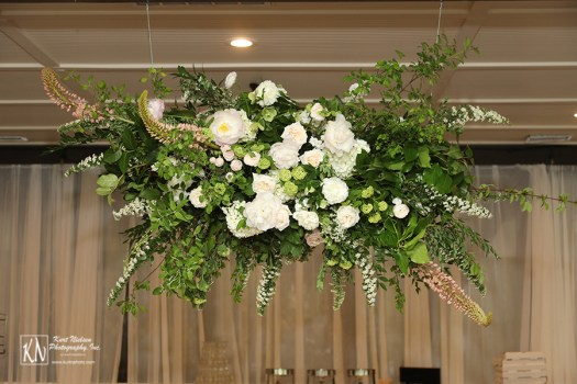 hanging floral arrangement for a wedding from Molly Taylor and Co