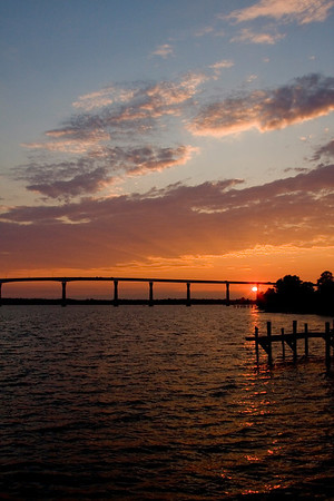 Some of the best sunsets in the Southern Maryland area are watched from the boardwalk at Solomon's Island. The VERY best sunsets are seen from the bridge while you are driving over it. Why do they never install scenic overlooks on bridges :)I'll try to catch up with commenting over the long weekend, there are just so many of us now in the dailies :)