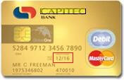 Capitec Global One Card with Expiry Date Circled