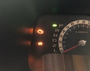 エンジン警告灯とパワステ警告灯