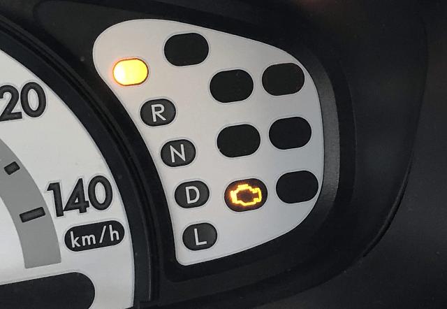 チェックエンジン警告灯点灯