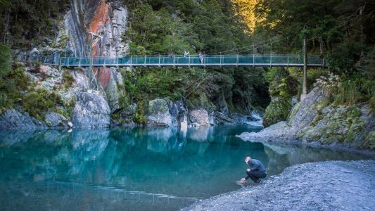 blue pools south island new zealand
