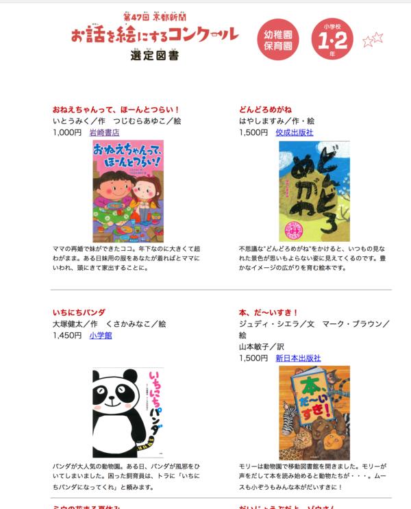 47回京都新聞「お話を絵にするコンクール」