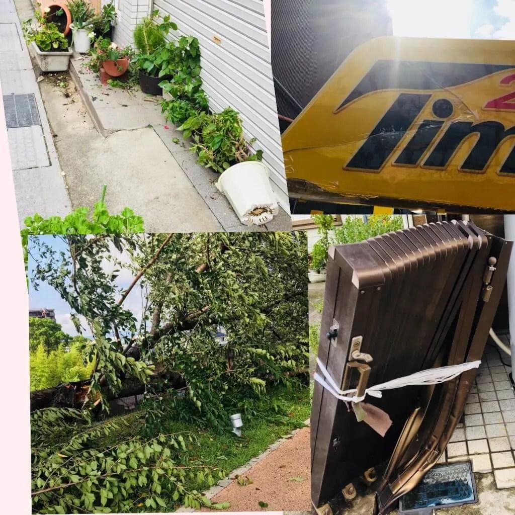 草津 台風被害