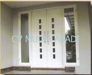 Gambar Model/Desain Kusen Pintu Jendela Minimalis 1 salah satu contoh bentuk kusen pintu jendela minimalis. Dengan adanya contoh Gambar Model/Desain Kusen Pintu Jendela Minimalis 1 ini, semoga dapat menjadi inspirasi Anda yang sedang merencanakan pembuatan kusen minimalis, daun pintu minimalis dan daun jendela minimalis untuk rumah idaman Anda. Untuk spesifikasi bahan baku kayu yang digunakan sangat bervariasi, tergantung dari selera dan anggaran biaya yang tersedia. Sebagai acuan dalam merencanakan anggaran biaya untuk pembuatan kusen minimalis, daun pintu minimalis dan daun jendela minimalis berdasarkan jenis kayu dan ukuran balok kusen yang digunakan, daftar harga kusen, daun pintu dan daun jendela dapat dilihat atau hubungi kontak kami