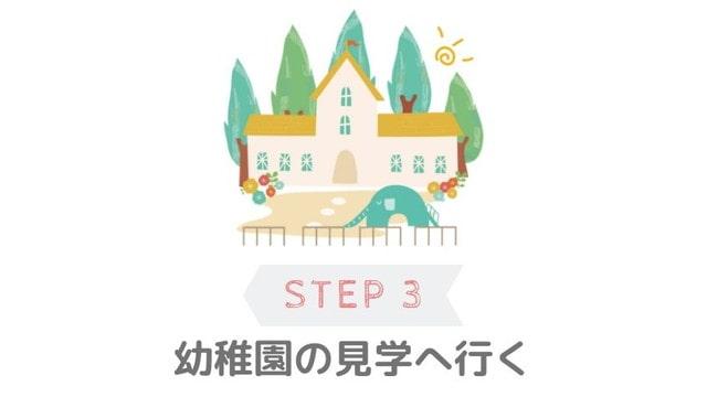 幼稚園選びの手順ステップ3 幼稚園の見学へ行く