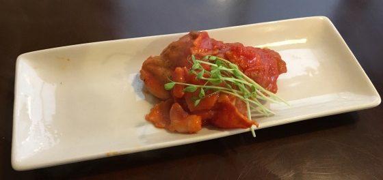 鶏もも肉のトマトソース煮・完成写真