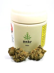 Ankr Organics Siren Marijuana Strain & Packaging