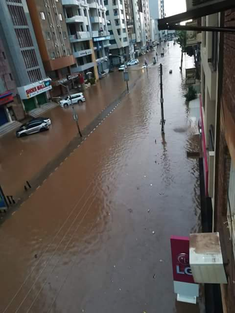 شاهد غرق العاصمة السودانية الخرطوم هذا الصباح