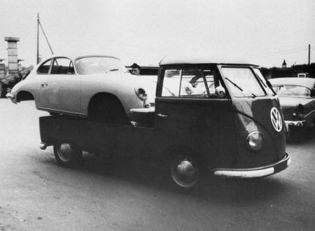 Porsche on Barndoor Truck