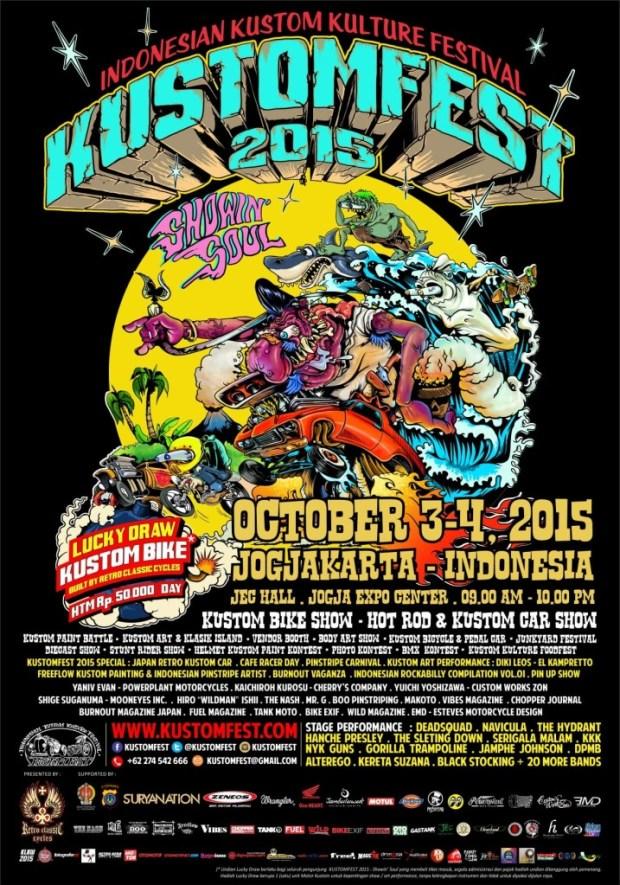 KUSTOMFEST 2015 - Showin Soul #posterA4-Eng