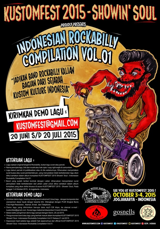 KUSTOMFEST 2015 ROCKABILLY INDONESIA
