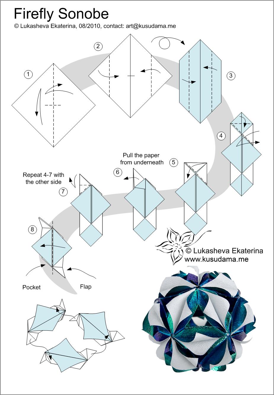 hight resolution of diagram for firefly kusudama