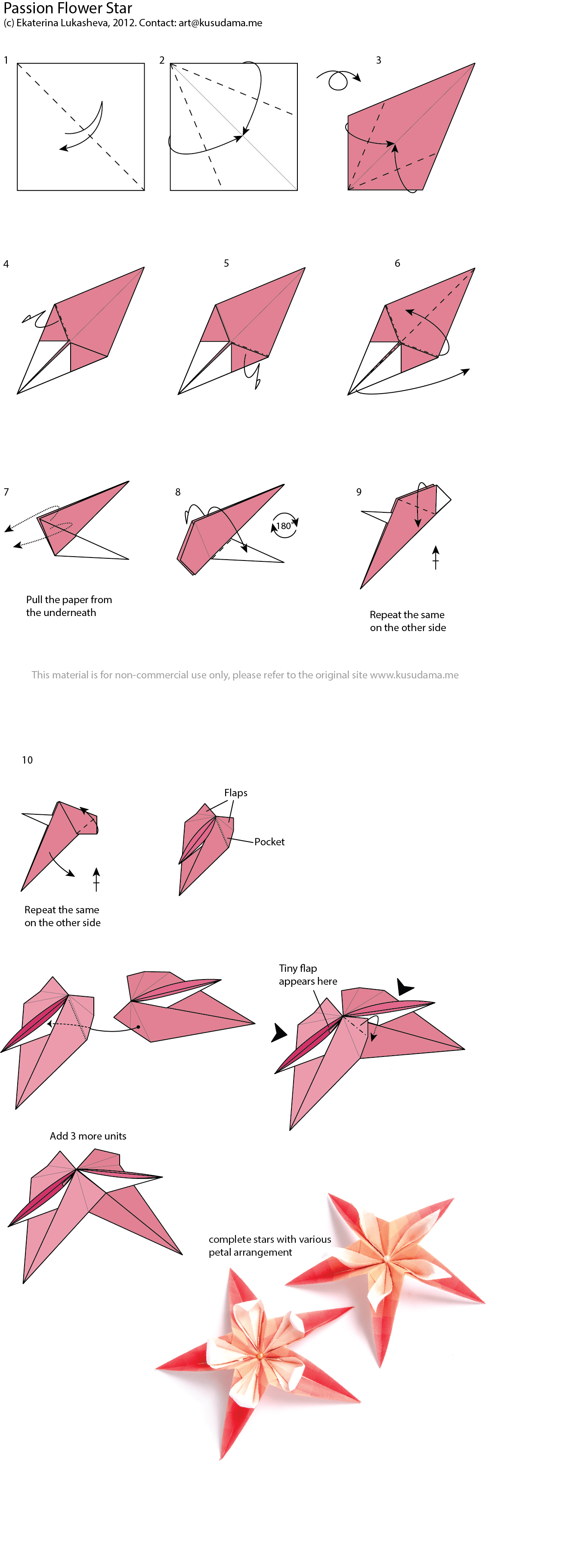 origami flower diagram in english aem fic 8 wiring for passion kusudama