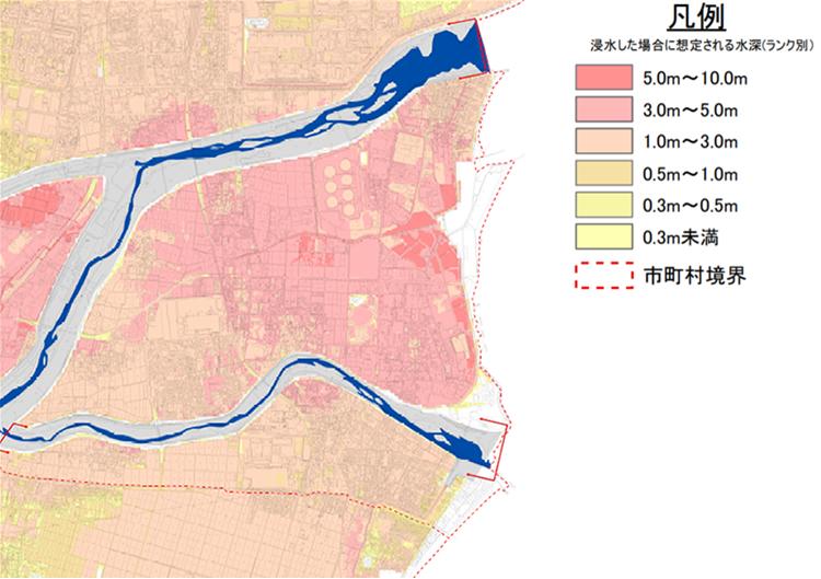 洪水浸水想定区域図 【想定最大規模】 鈴鹿川流域6時間総雨量391mm