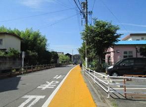 通学路のカラー舗装