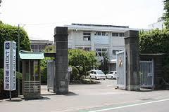 富岡高校正門です