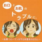 口内炎などのキズをよくするためと新しいコラーゲンをつくるための栄養素のお話。その5