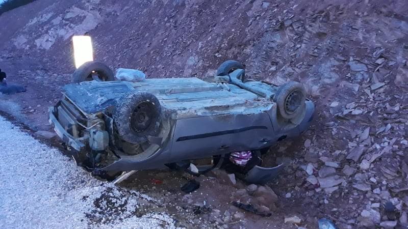 Kütahya'da trafik kazası: 1 ölü, 1 yaralı