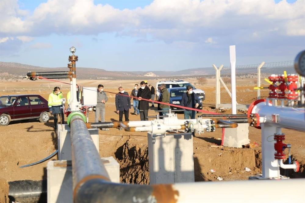 Zafer OSB'de doğalgaz hattı çalışmalarında sona gelindi